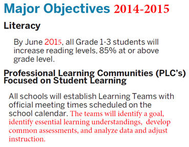 2014-2015 objectives