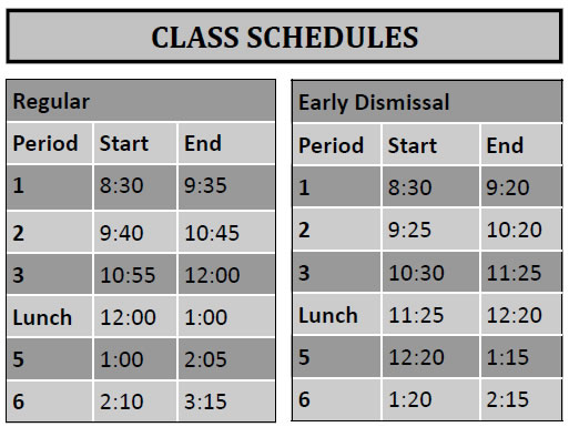 gvc ed sched